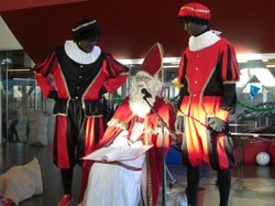 Photo: Sinterklaas and Piets