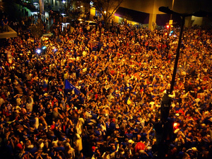 Photo: Crowds in Lawrence