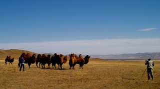 Photo: Filming Mongolia