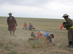 Photo: Mongolian wrestling