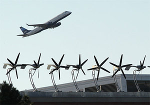 Photo: Wind Turbines at Logan Airport