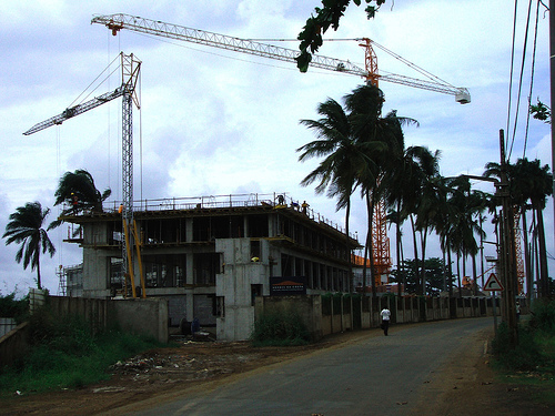 Pestana construction in Sao Tome