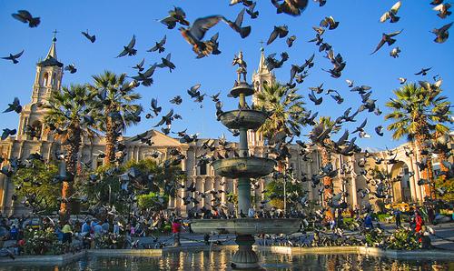 Photo: Photo: Plaza de Armas, Arequipa, Peru