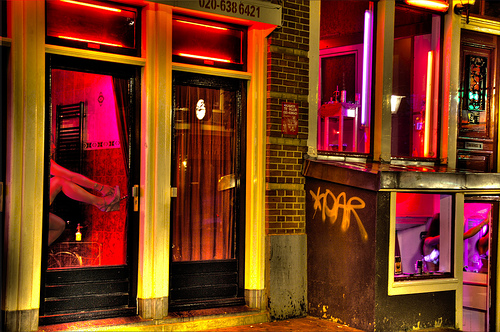 Photo: Amsterdam Red Light District