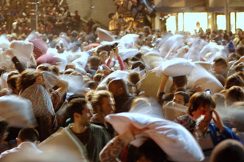Photo: San Francisco pillow fight