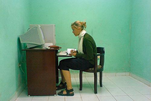 Photo: Computer desk