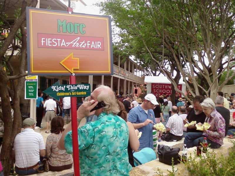 crowd that attended the Fiesta Oyster Bake on the city's west side.