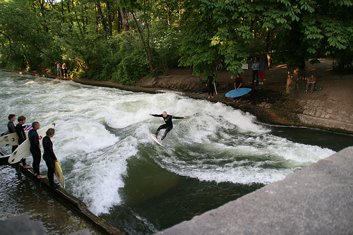 Photo: Munich surfing