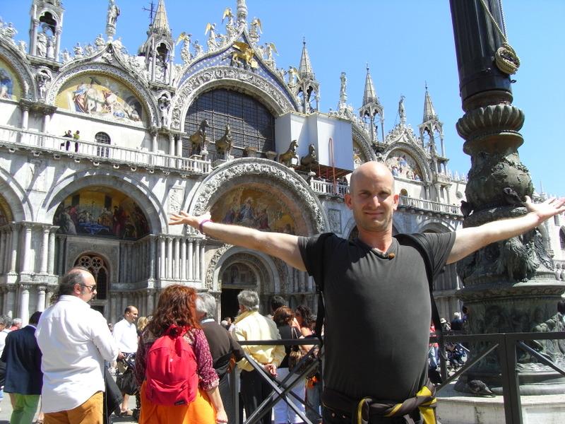 Photo: Leon in Venice's St. Mark's Square