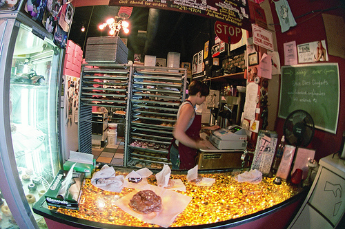 Photo: Inside Voodoo Doughnut