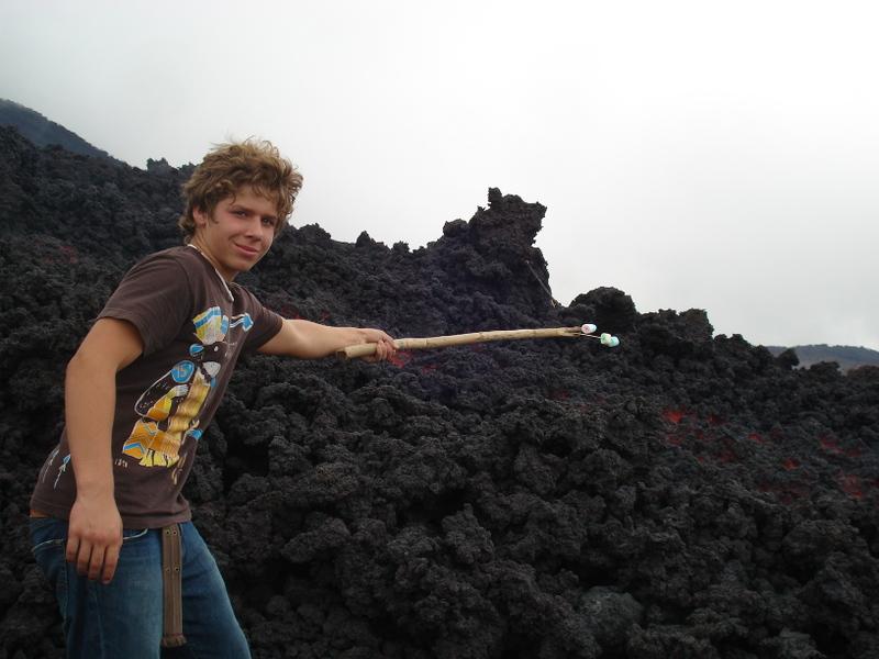 Photo: Toasting marshmallows over lava