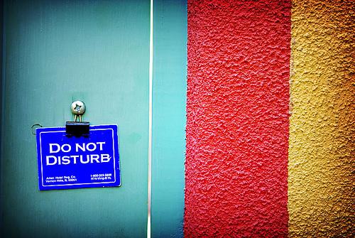 Photo: Do Not Disturb sign