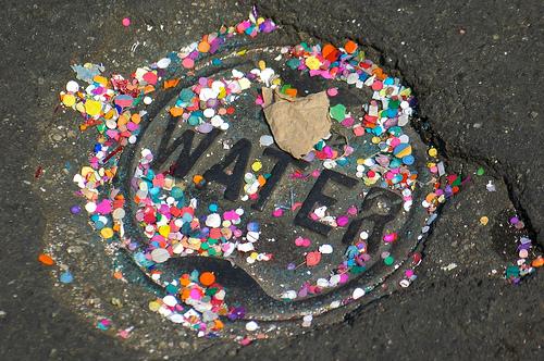 Photo: Santa Barbara Fiesta confetti