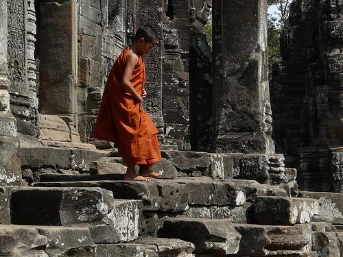 Photo: A Monk at Angkor Wat