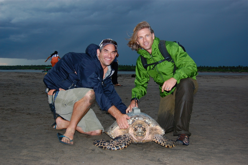Photo: Seminoff and Nichols with hawksbill