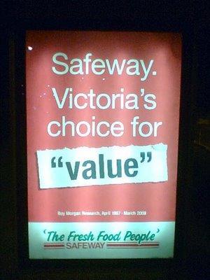 Photo: Incorrect use of quotation marks